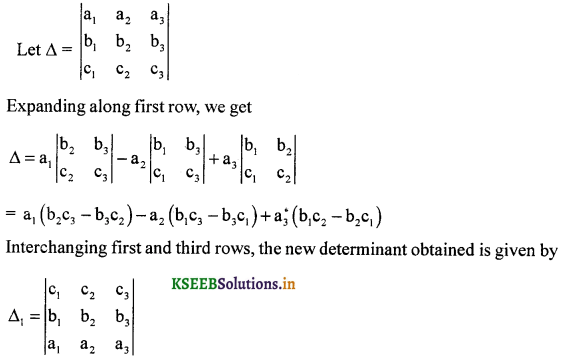 2nd PUC Maths Question Bank Chapter - 4 Determinant - 17