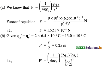 2nd PUC Physics Question Bank Chapter 1 Electric Charges and Fields 65
