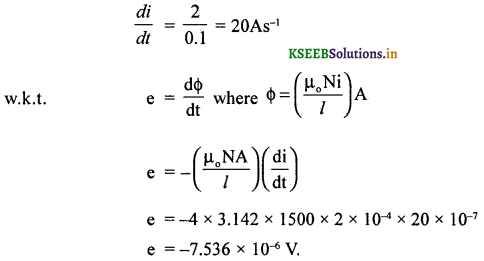 2nd PUC Physics Question Bank Chapter 6 Electro Magnetic Induction 35