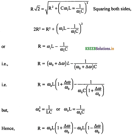 2nd PUC Physics Question Bank Chapter 7 Alternating Current 54