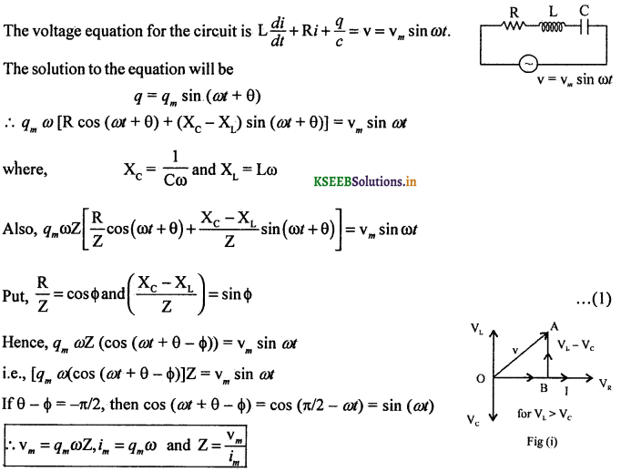 2nd PUC Physics Question Bank Chapter 7 Alternating Current 57