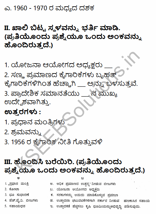 1st PUC Economics Question Bank Chapter 2 Indian Economy 1950-1990 in Kannada 2