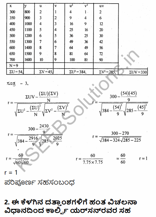 1st PUC Economics Question Bank Chapter 7 Correlation in Kannada 30