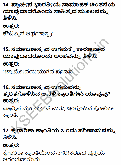 1st PUC Sociology Question Bank Chapter 1 Nature of Sociology in Kannada 5