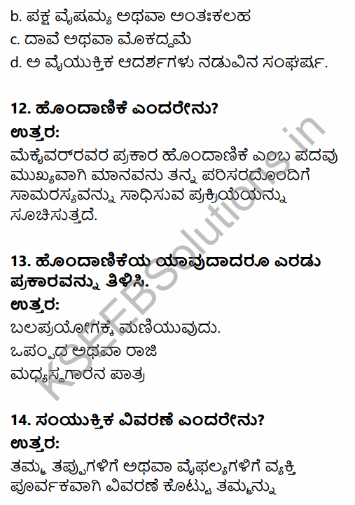 1st PUC Sociology Question Bank Chapter 3 Social Process in Kannada 12