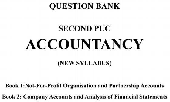 Karnataka 2nd PUC Accountancy Question Bank with Answers