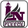 renegade nantucket fleece branding logo, square purple lighthouse N waves