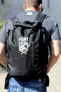Fashion lookbook sport casual backpack