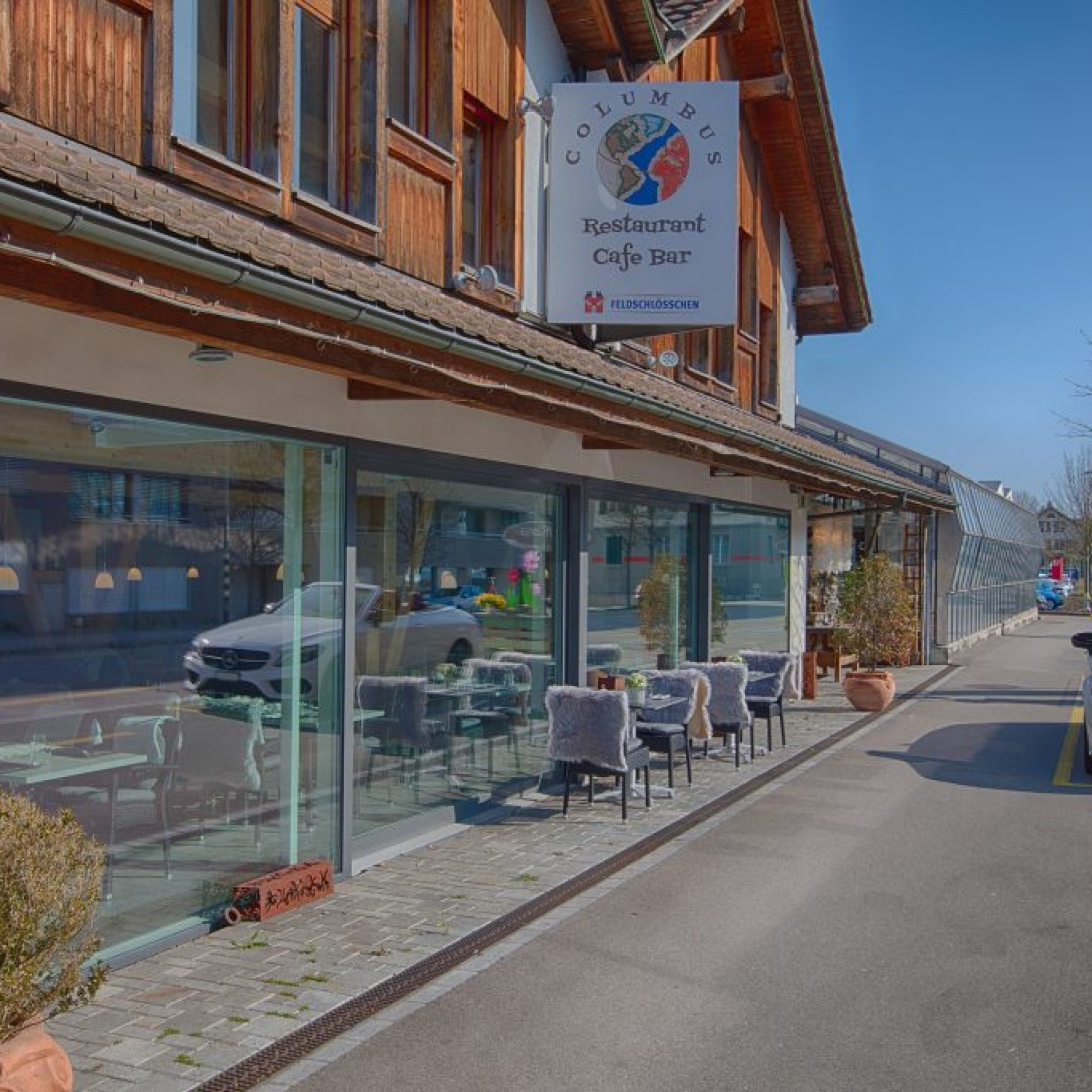 Picture of Stylish Swiss Restaurant Exterior