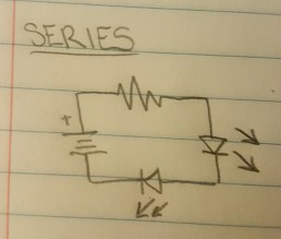 Schematic diagram for circuit in series