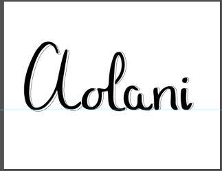 I first created Aolani in illustrator