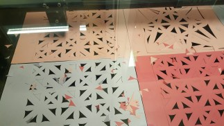 Laser cutting multiple pages at once