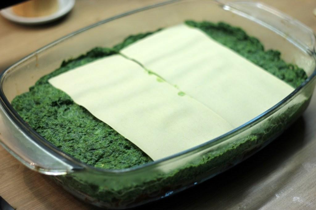 Układanie warstw lasagne
