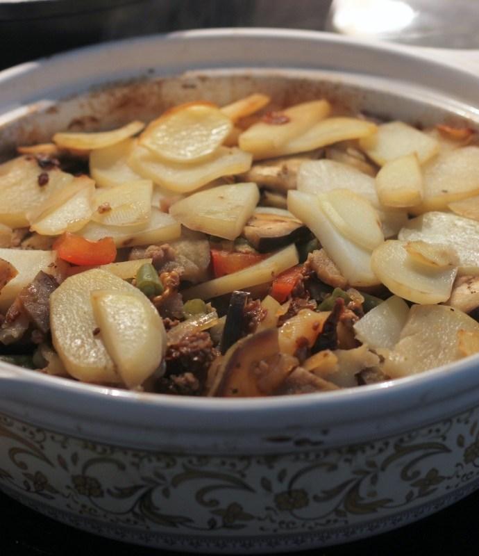 Zapiekanka warzywno – mięsna – Czanachi