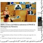 BILDU difunde información sobre miembros de las Fuerzas de Seguridad en prisión con el beneplácito del PSOE