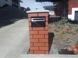 Brick letter box