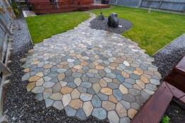 Natural flag stone patio