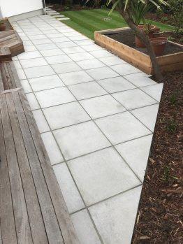 Natural smooth paving patio