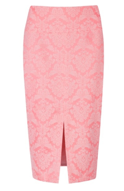 brocade pencil skirt