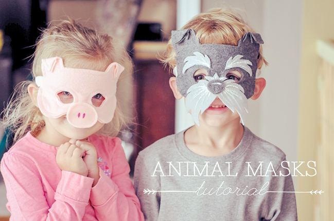 Children's Animal Masks Tutorial | ksmdesign.com