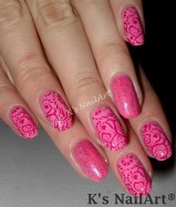 Pink Abstract Hearts