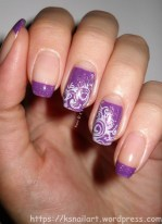 Violet Half-Moon Nails