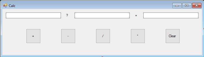 UI of Simple Calculator