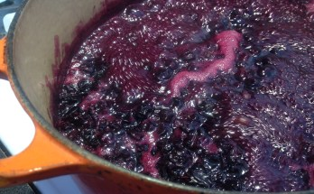 blueberry jam, cooking jam