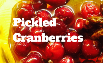 pickled cranberries, thanksgiving recipe, holiday recipe, fast holiday recipe, easy holiday recipe