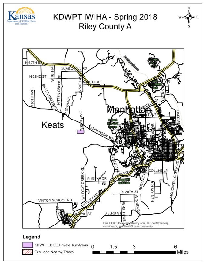 Kansas Public Hunting Area Map