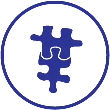 two puzzle pieces icon