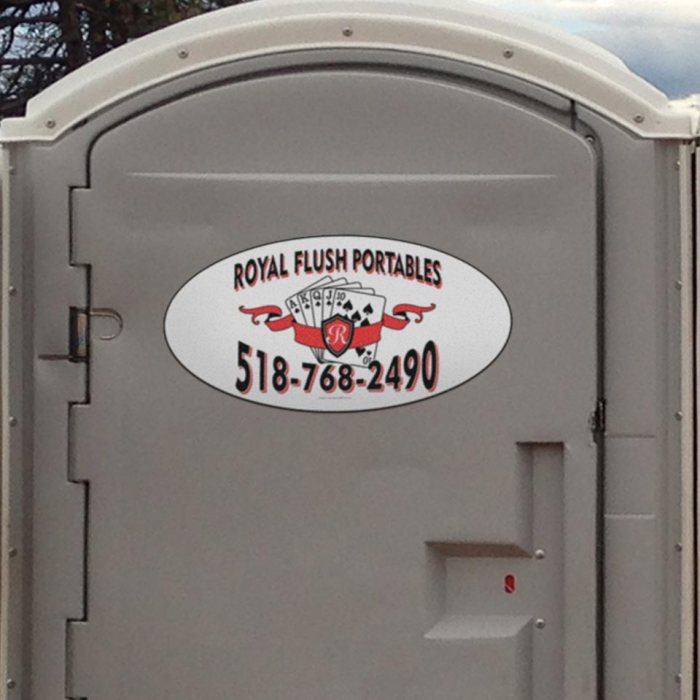 Portable toilets custom decals