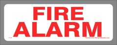 Fire Alarm Stickers