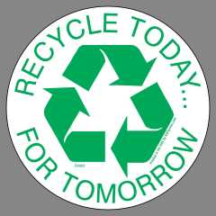 4inch Today Recycle sticker Encourage recycling