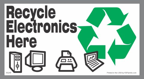 Electronics Recycling Decals