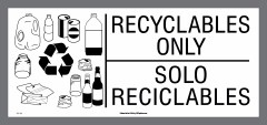 Bilingual Recyclables Only decal