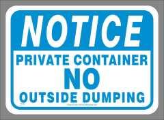 Private Container Waste Sticker