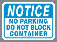 No Parking Container Sticker