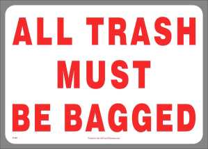 Inform your customers how to manage waste with informational stickers
