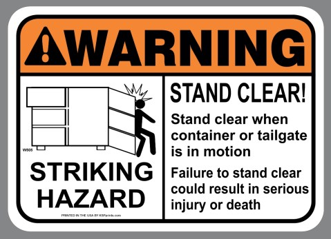 ANSI Striking Hazard Sticker