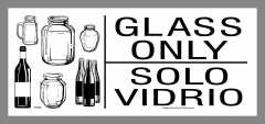 Bilingual (English and Spanish)Glass Only Stickers