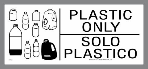 Plastic Only Container Label