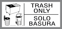 bilingual trash only stickers