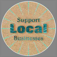 Support Local Businesses Floor Decal