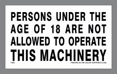 18 to Operate Decal