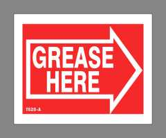 Grease Here Sticker