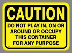 Caution Do Not Play Sticker