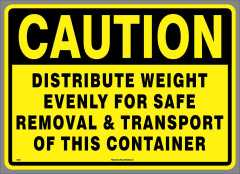 Distribute Weight Container Sticker