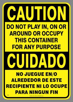 Bilingual Play In Container Sticker