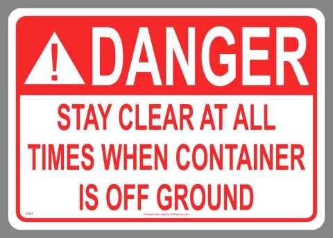Danger Stay Clear Sticker